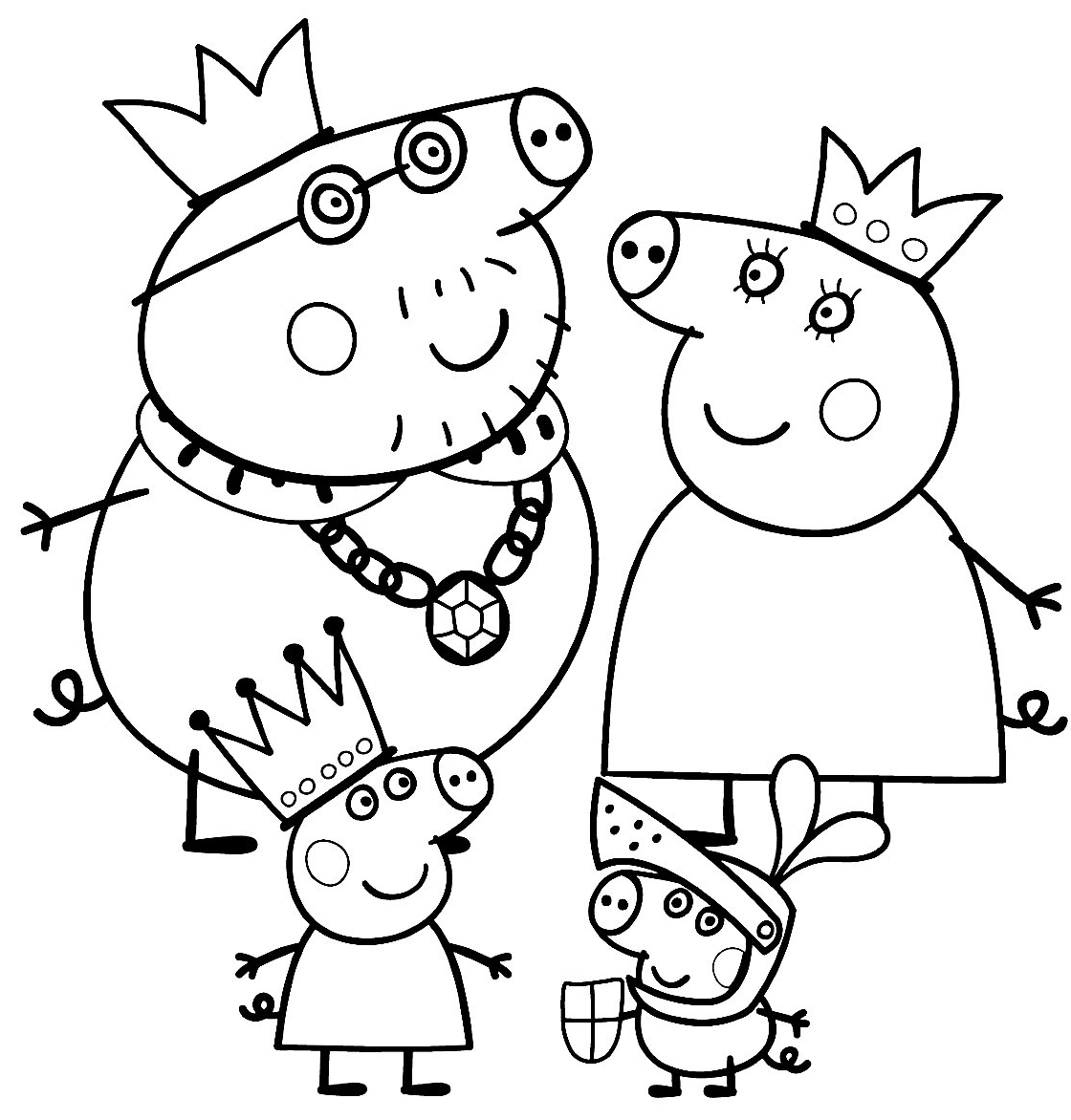 1120x1172 Peppa Pig Family Coloring Pages