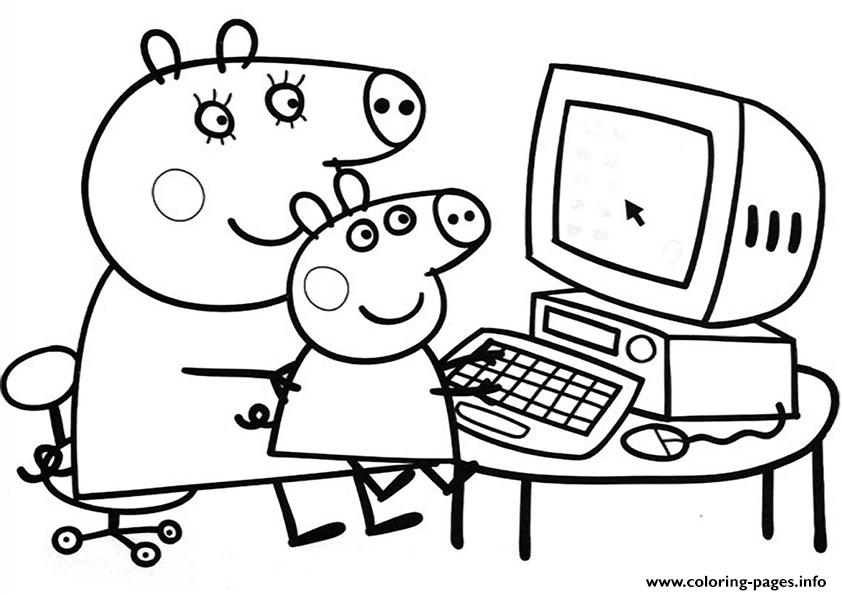 842x595 Peppa Pig Free Coloring Pages Printable