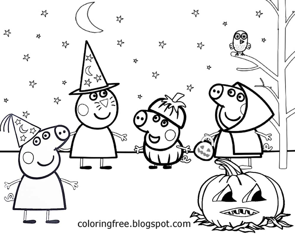 1000x800 Best Of Peppa Pig Halloween Coloring Pages Gallery Free Coloring