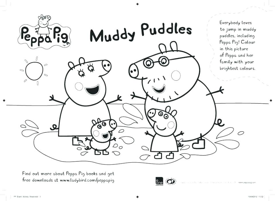 960x700 Pig Friends Coloring Page Coloring Page Peppa Pig Colouring