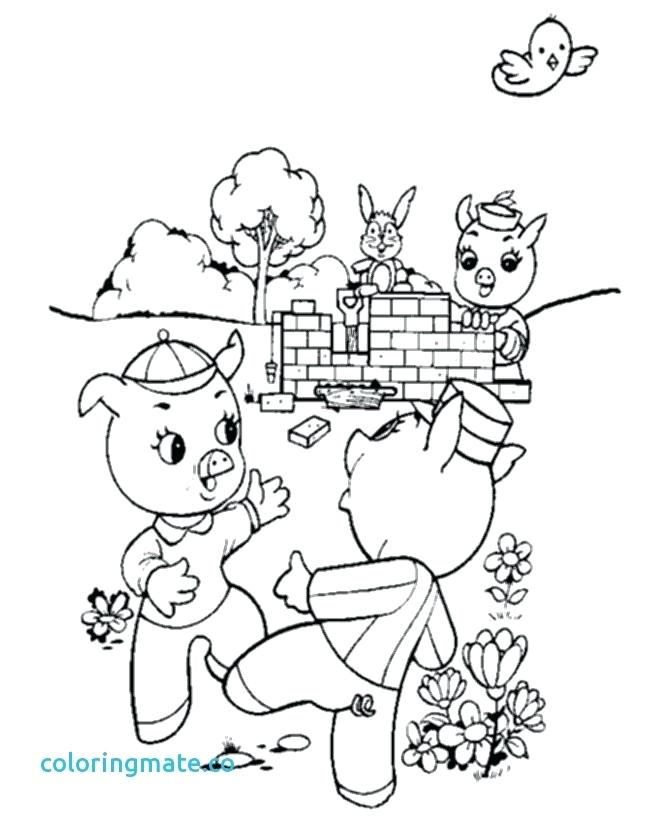 670x820 Three Little Pigs Printables Pig Pig And Friends Colouring Pages