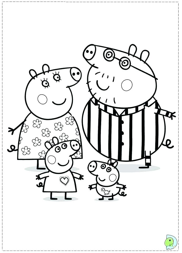 691x960 Christmas Colouring Pages Peppa Pig Elegant Of Pig Friends