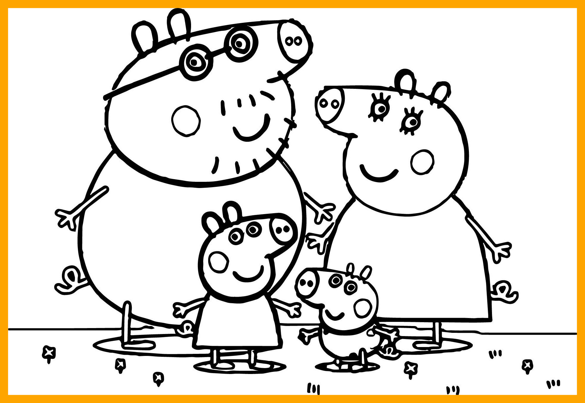 Peppa Pig Coloring Pages For Kids at GetDrawings | Free ...