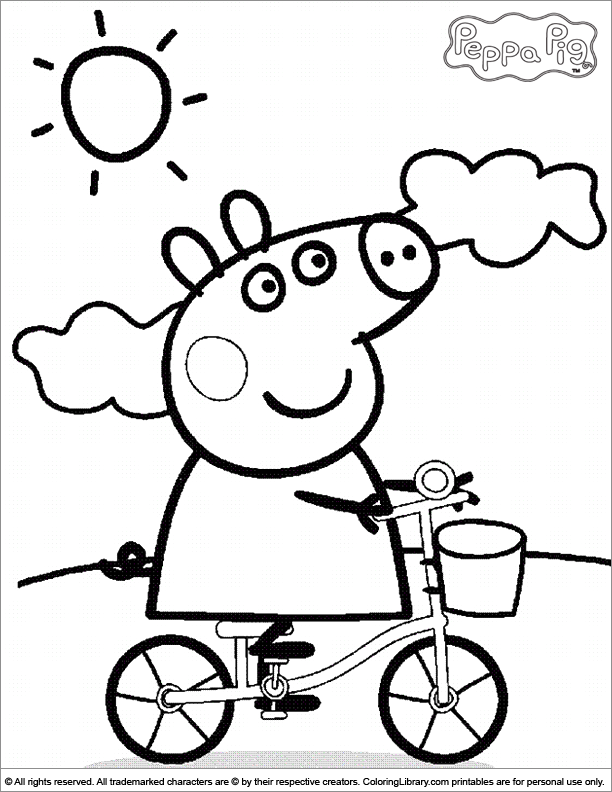 612x792 Peppa Pig Birthday Coloring Pages Search Results Peppa Pig Kids