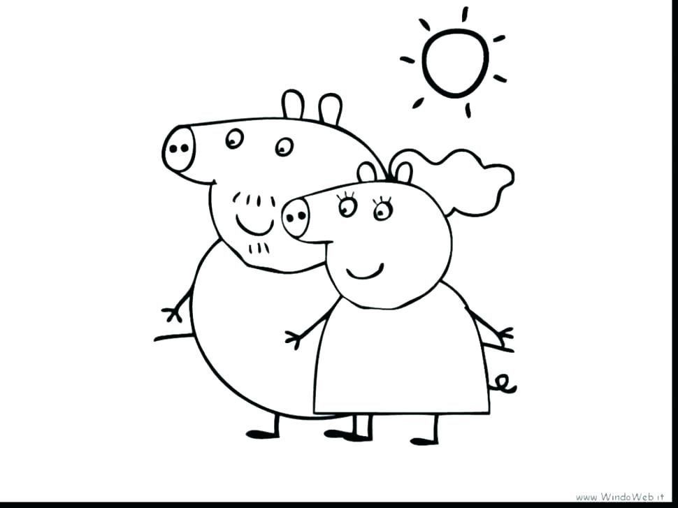 970x727 Peppa Pig Coloring Page Peppa Pig Coloring Pages Easter
