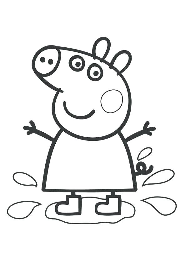 595x842 Peppa Pig Coloring Page Pig Coloring Pages Peppa Pig Coloring