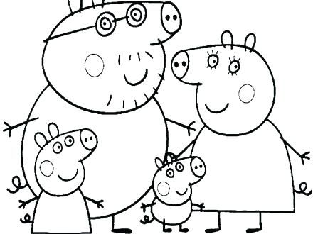 440x330 Peppa Pig Coloring Pages Online Pig Coloring Pages Peppa Pig Happy
