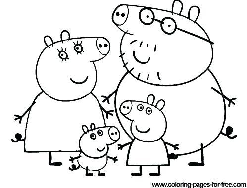 499x380 Peppa Pig Coloring Pig Birthday Pig Show Revolves Around