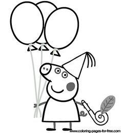 236x261 Peppa Pig Coloring Pages Drawing Picture Emily's Birthday