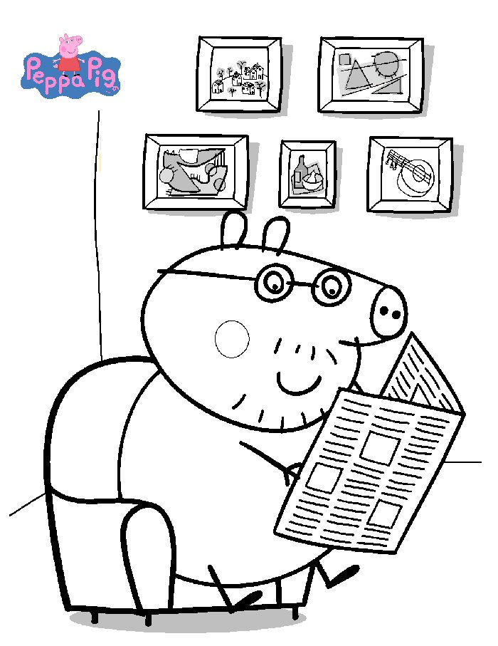 700x907 Top Peppa Pig Coloring Pages Of You Haven't Seen Anywhere