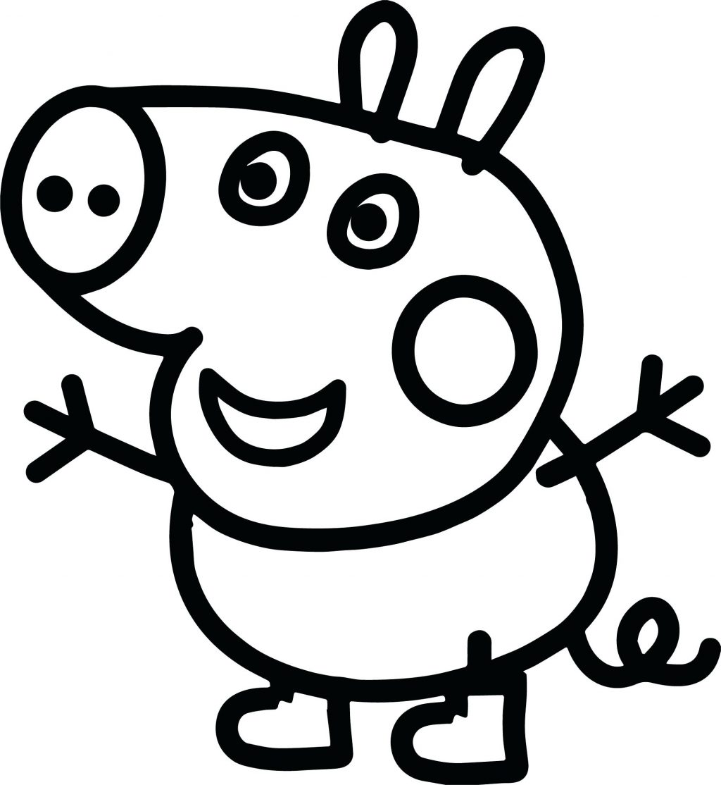 1024x1114 Coloring Pages Peppa Pig Coloring Page Small Baby Pages Youtube