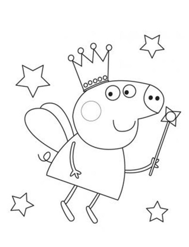 633x827 Fairy Peppa Pig Coloring In Pages Coloring Page Peppa Pig