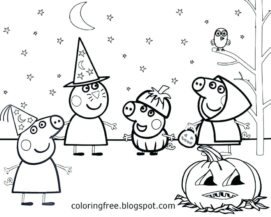 Peppa Pig Christmas Coloring Pages at GetDrawings