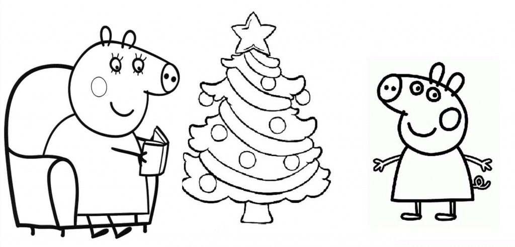 Peppa Pig Christmas Coloring Pages at GetDrawings.com | Free for ...