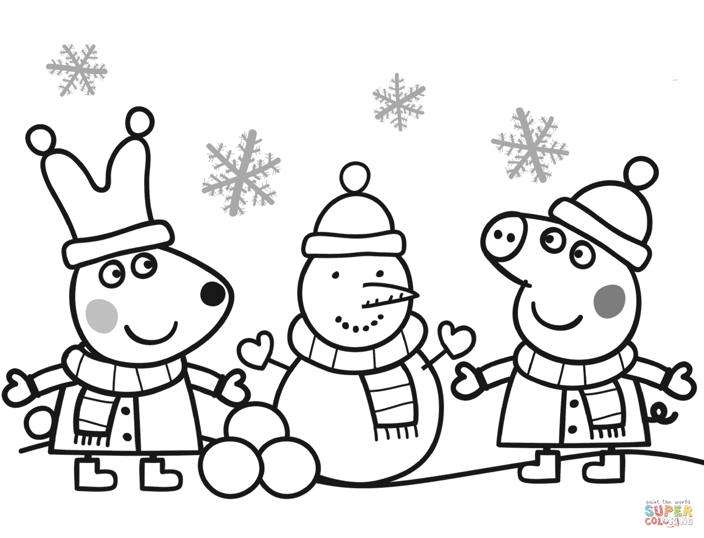 Peppa Pig Christmas Coloring Pages at GetDrawings | Free ...