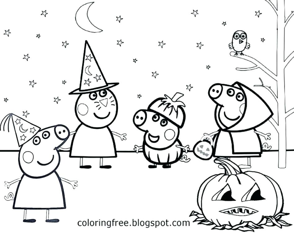 Peppa Pig Coloring Pages At Getdrawings Com Free For