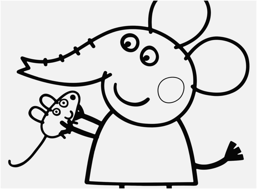 Peppa Pig Coloring Pages For Kids At Getdrawings Com Free For