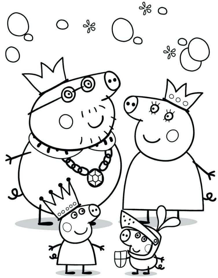 754x960 Peppa Pig Coloring Page Printable Pig Coloring Pages Peppa Pig