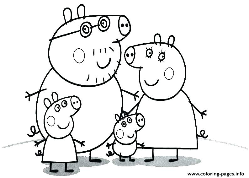 Pretty Peppa Pig Coloring Pages Printable   567x794