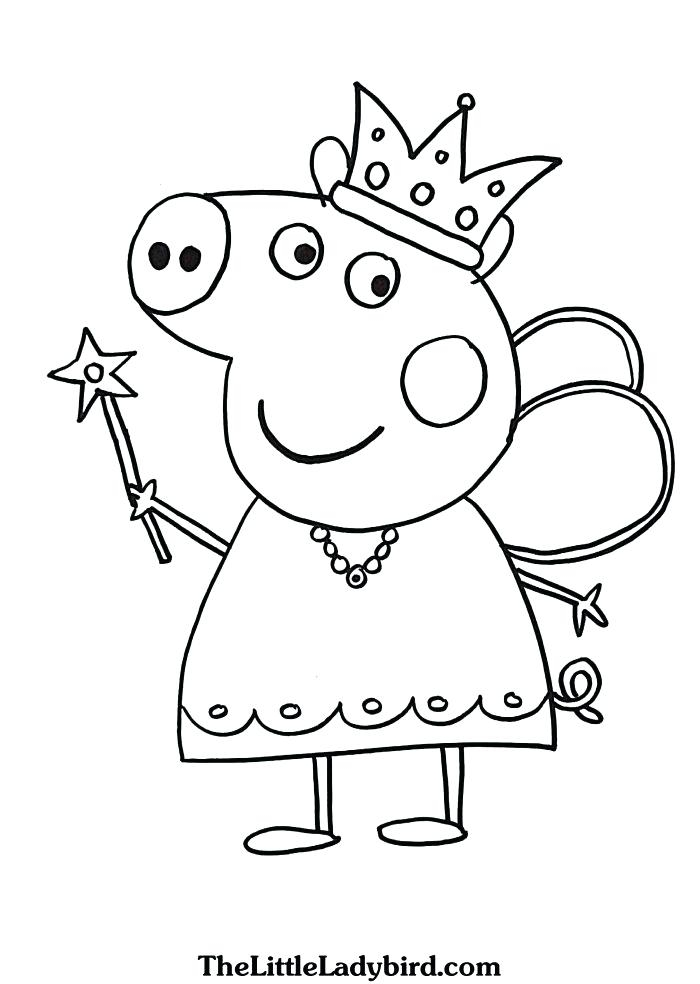 Coloring for Kids coloring pages for kids pdf : Peppa Pig Coloring Pages Pdf at GetDrawings.com | Free for personal ...