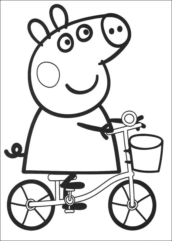 Peppa Pig Coloring Pages Pdf at GetDrawings.com | Free for personal ...