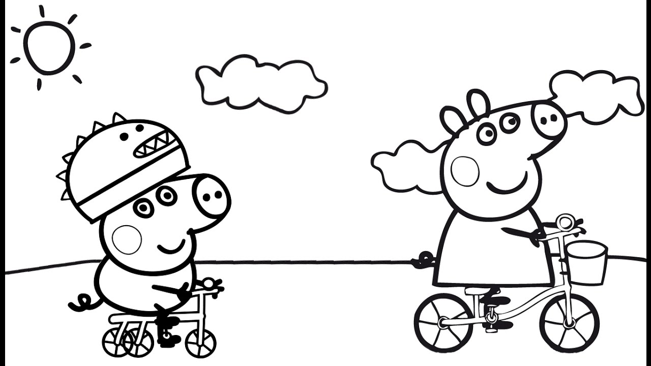 1280x720 Peppa Pig Coloring Pages Peppa Pigs Family Coloring Page
