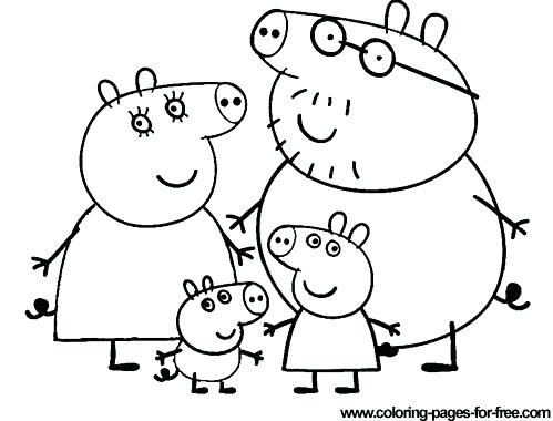 499x380 Peppa Pig Coloring Pages Pig Coloring Pages Pig Pig Coloring Pages