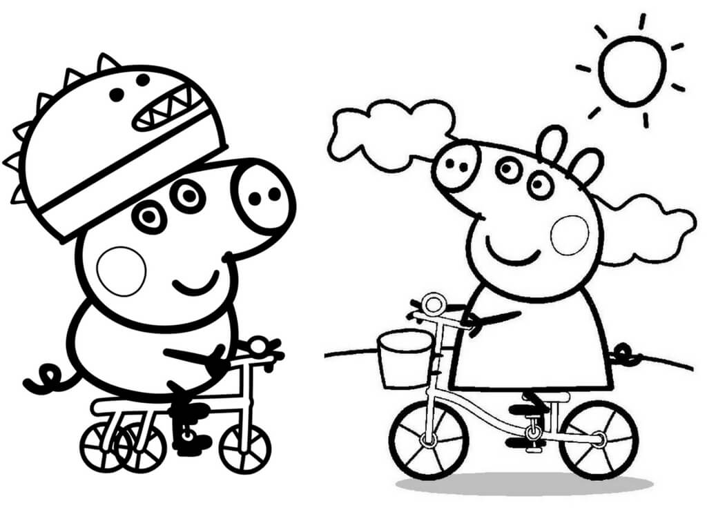 It is an image of Satisfactory Peppa Coloring Pages