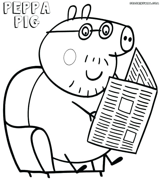 615x686 Peppa Pig Colouring Pages To Print Pig Printable Coloring Pages