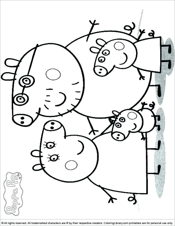 612x792 Peppa Pig Printable Coloring Pictures Kids Coloring Pig Coloring