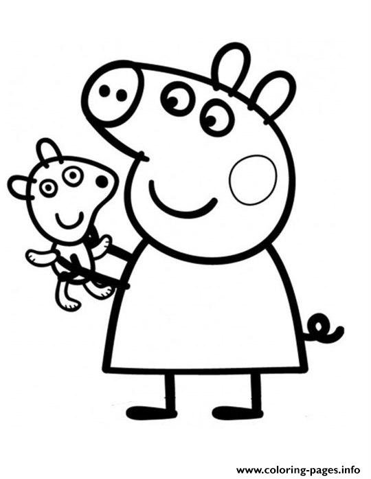 540x697 Smart Idea Peppa Pig Coloring Pages Printable Pretty Printable