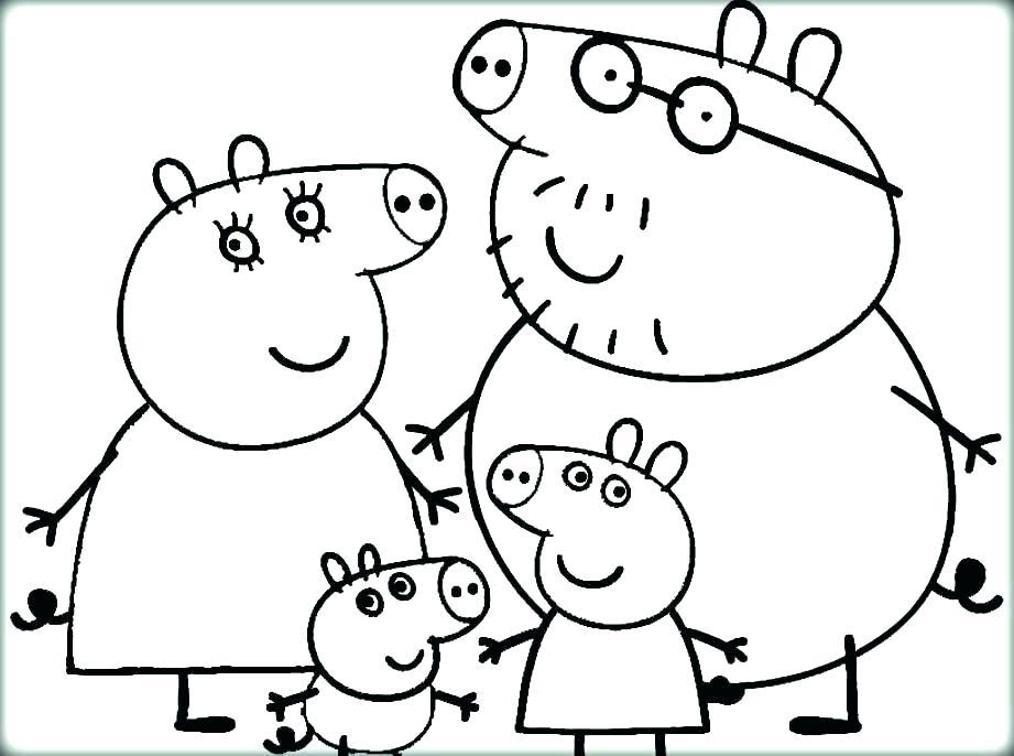 Peppa Pig Printable Coloring Pages at GetDrawings | Free ...