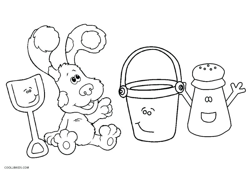 800x554 Blues Clue Paw Print Blues Clues Salt And Pepper Coloring Pages