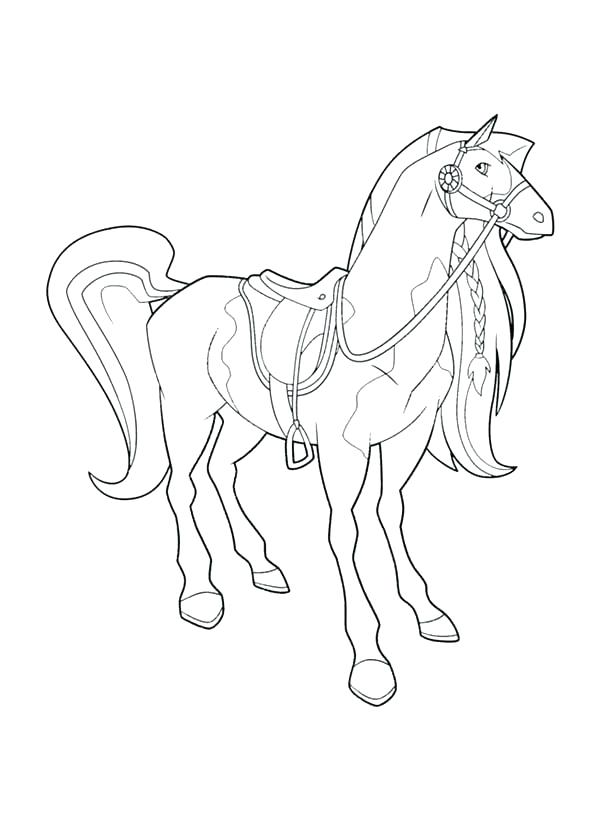 600x834 Horseland Coloring Pages Coloring Pages Awesome Horse Standing