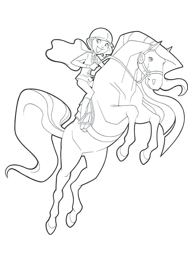 600x840 Horseland Coloring Pages Coloring Pages Jumping With Pepper