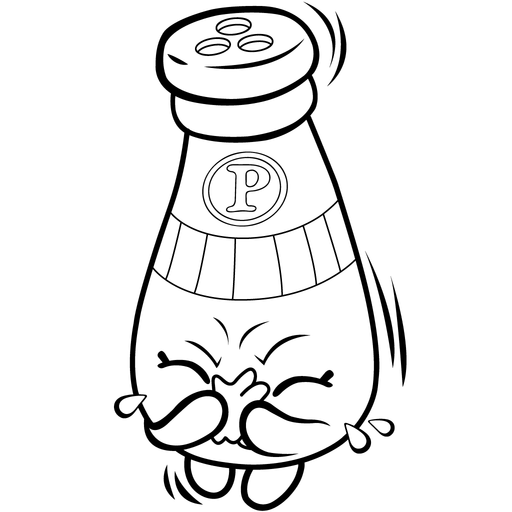 1024x1024 Peppe Pepper Coloring Page Shopkins Pantry