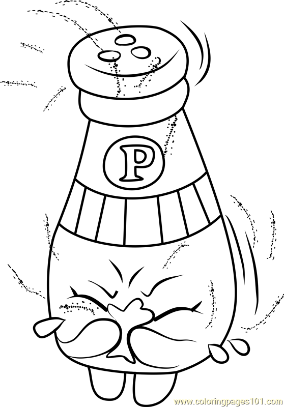 558x800 Peppe Pepper Shopkins Coloring Page