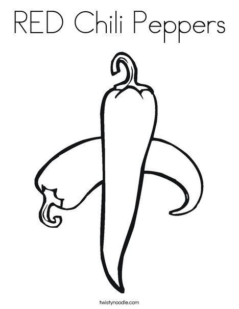 468x605 Red Chili Peppers Coloring Page