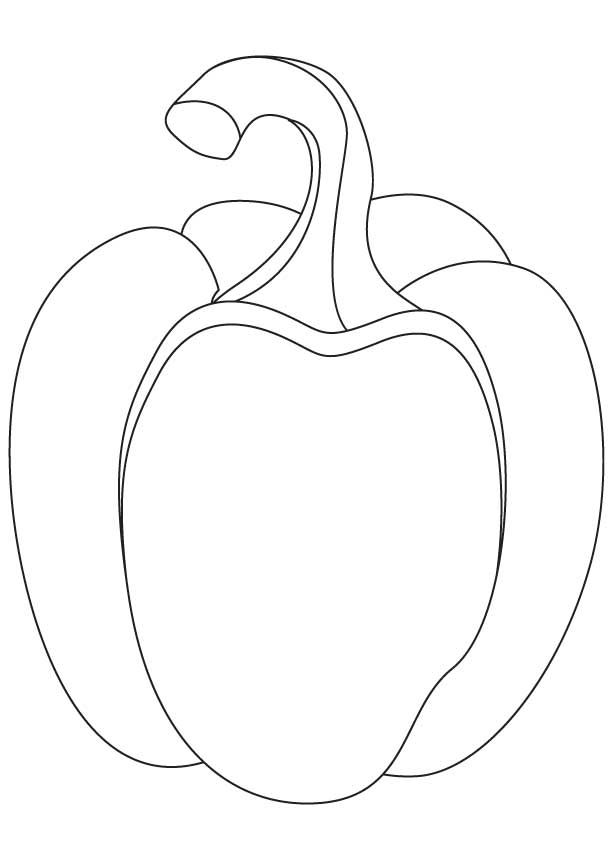 613x860 Bell Pepper Coloring Pages Download Free Bell Pepper Coloring