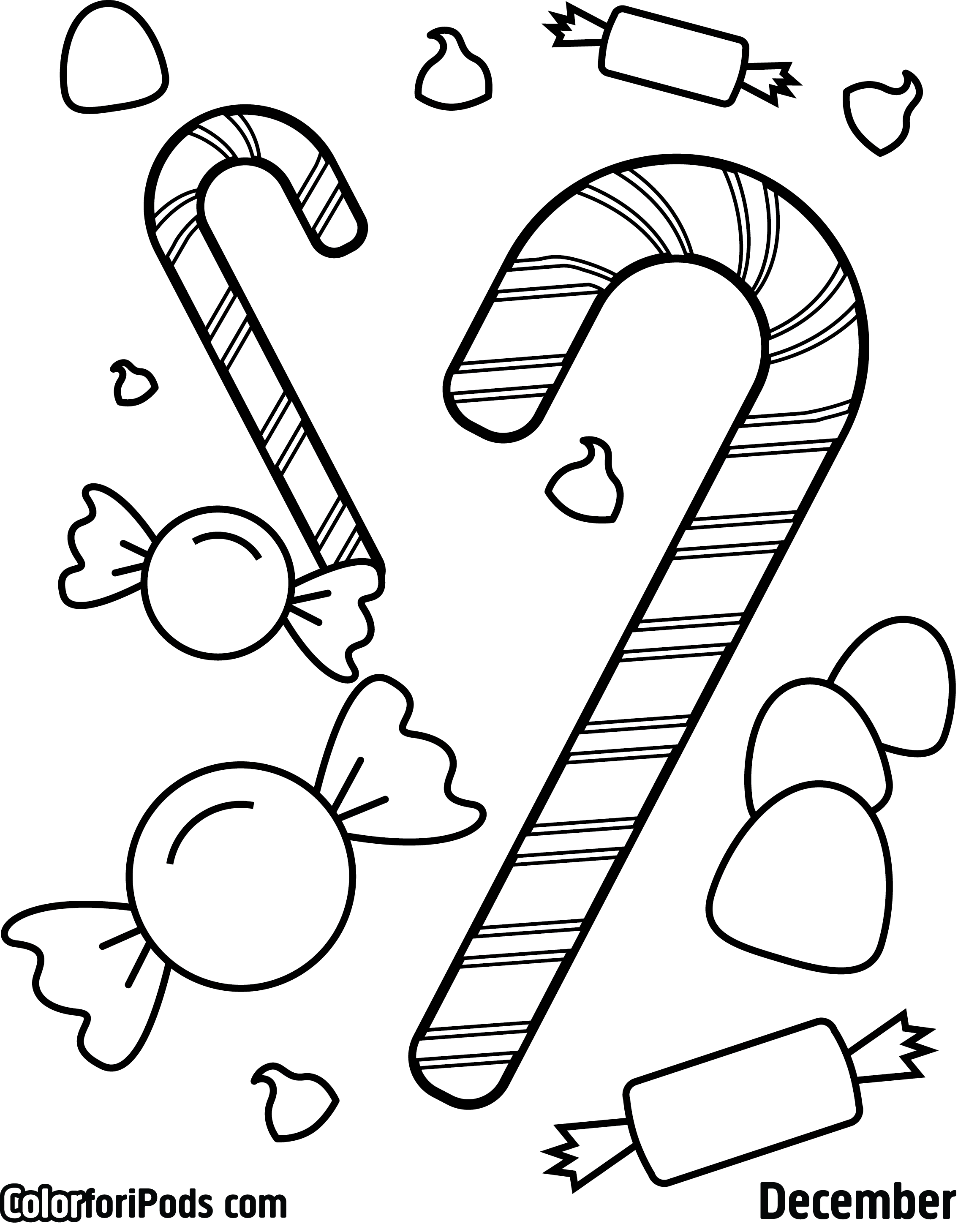 Peppermint Candy Coloring Pages At Getdrawings Com Free For