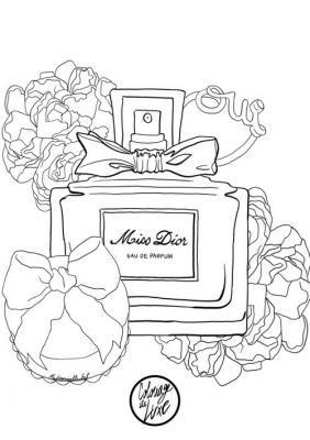 282x400 Best Perfume Coloring Pages Images On Colouring
