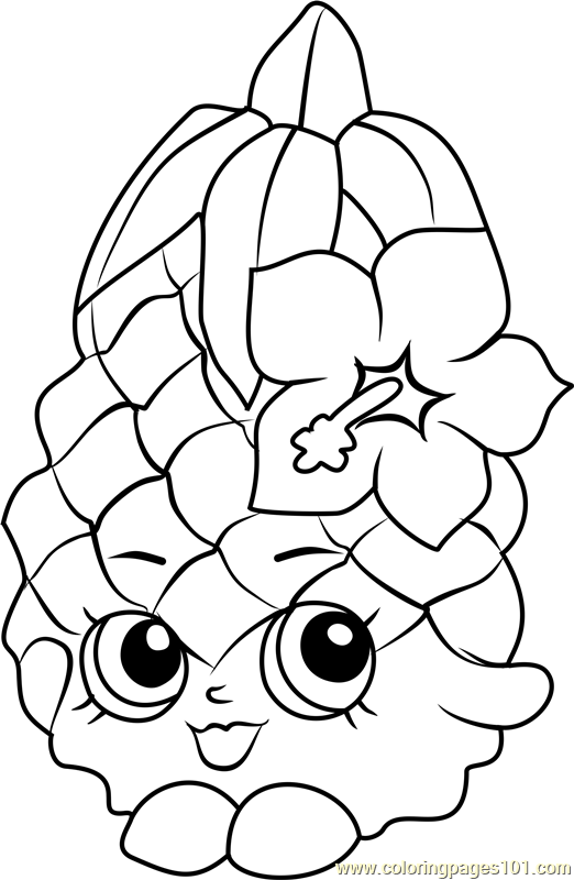 522x800 Pineapple Crush Shopkins Coloring Page