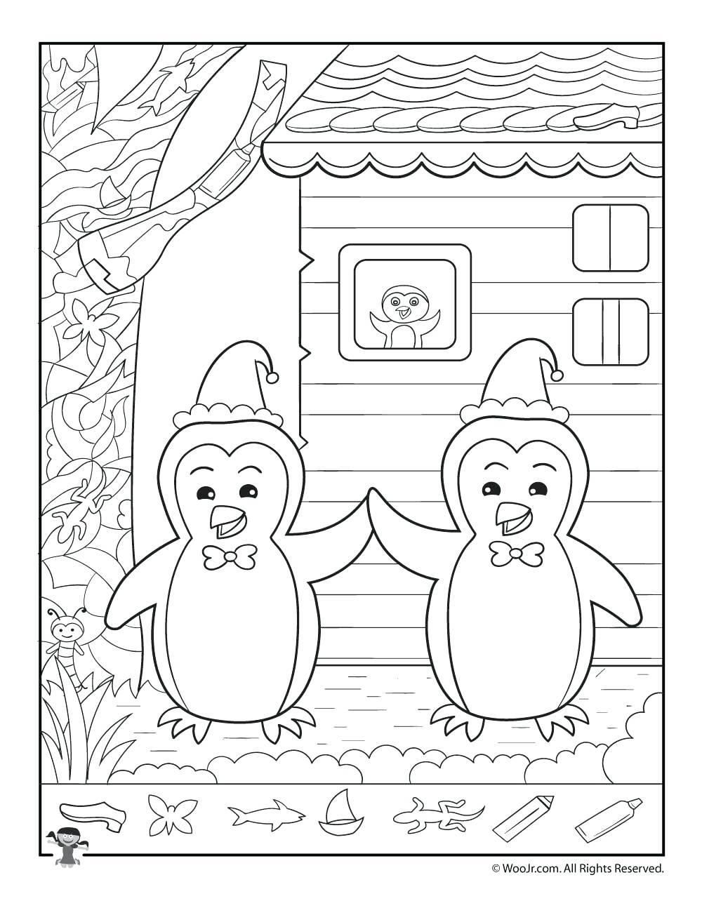 1000x1294 Kindergarten Winter Penguins Hidden Picture Printable Marvelous