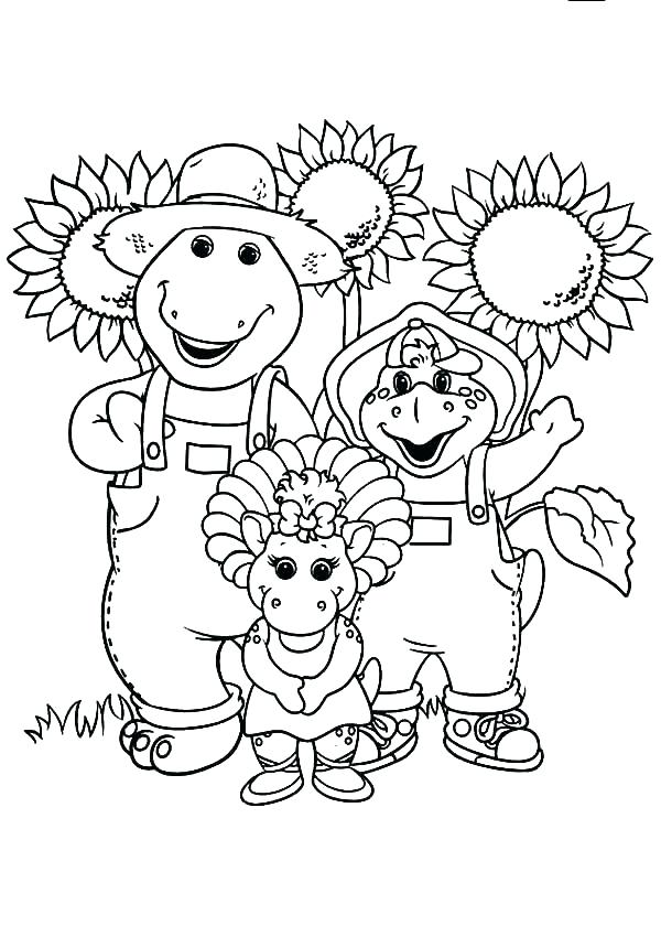 600x840 Barney And Friends Coloring Pages Barney Barney Friends Coloring