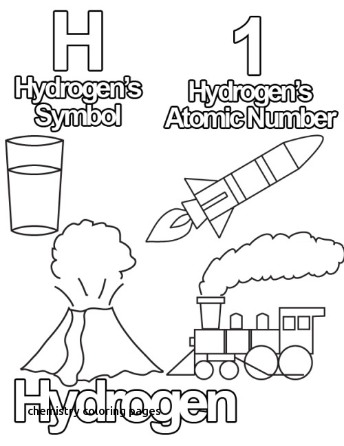500x647 Chemistry Coloring Pages