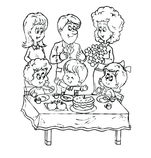 600x627 Table Coloring Click To See Printable Version Of Kitchen Table