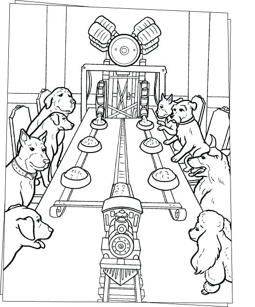 520x626 Table Coloring Dogs Dinner On The Table Coloring Page Periodic