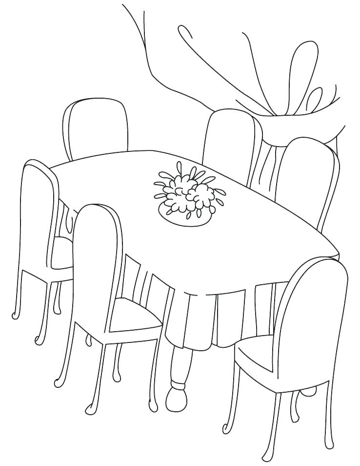 738x954 Table For Coloring Click To See Printable Version Of Tea Table