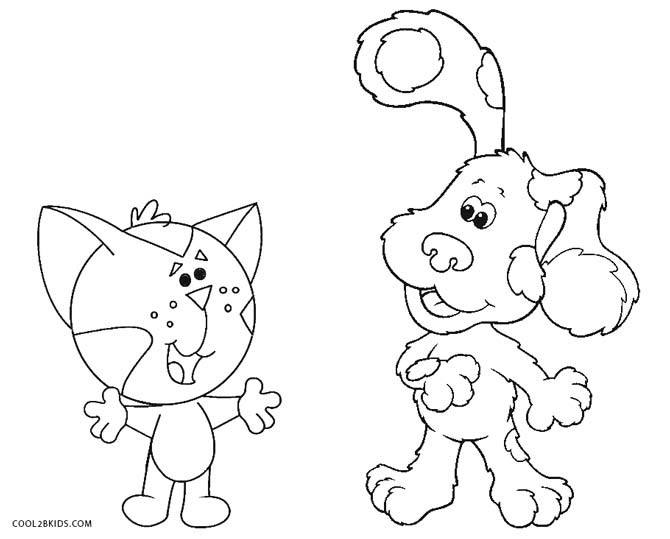 670x539 Free Printable Blues Clues Coloring Pages For Kids