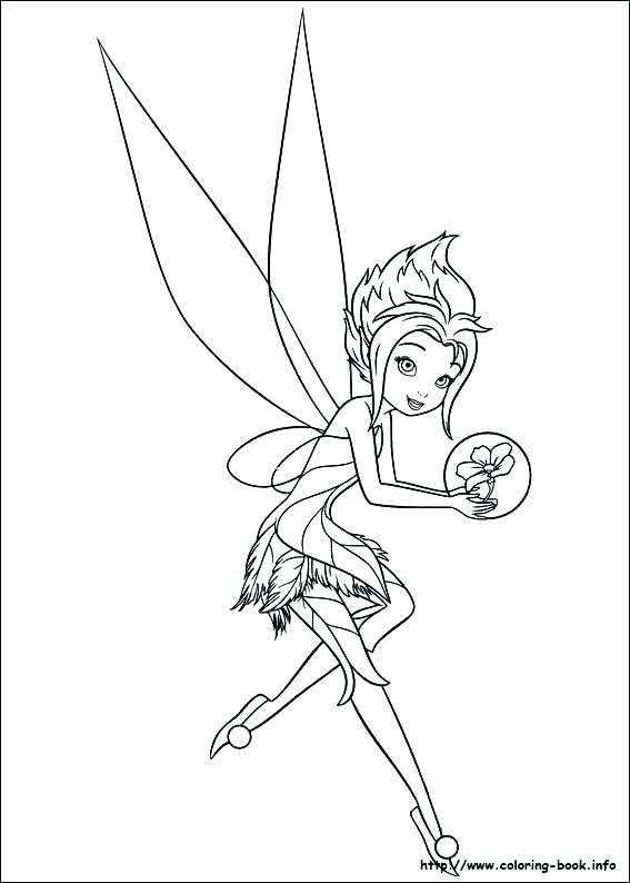 567x794 Free Tinkerbell And Periwinkle Coloring Pages Pictures To Print